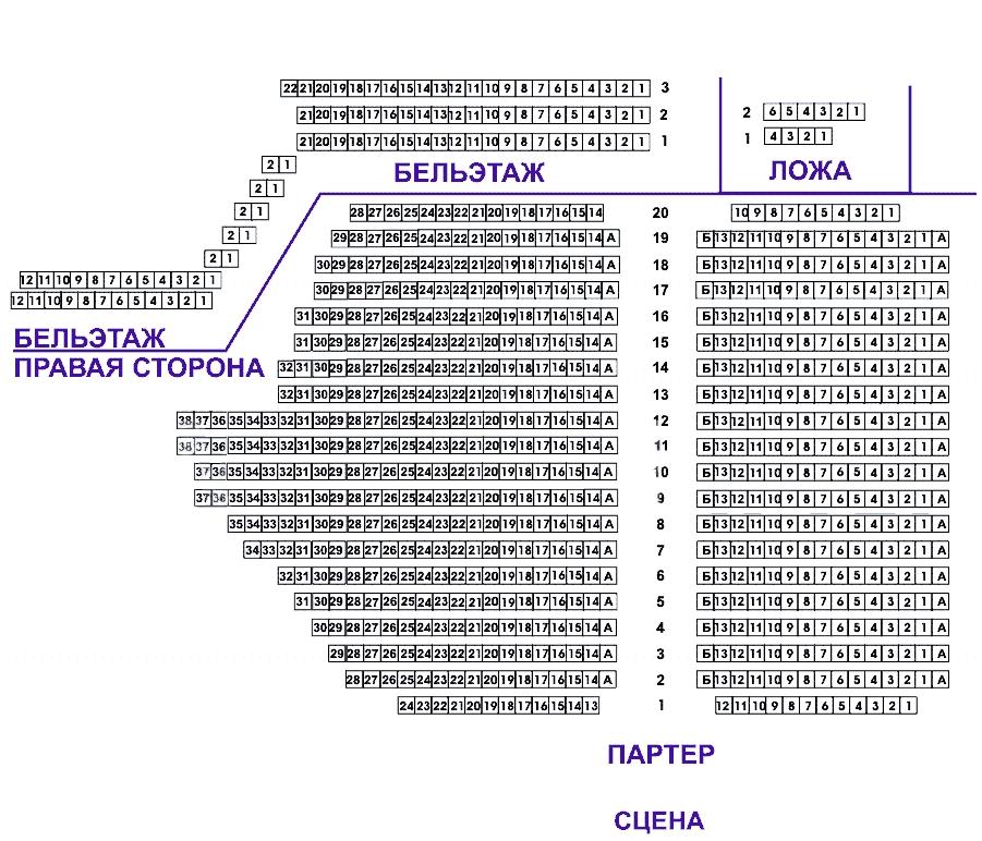 Схема зала Расписание